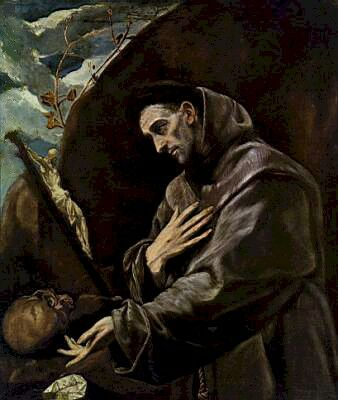 Painting of Francis of Assisi by El Greco